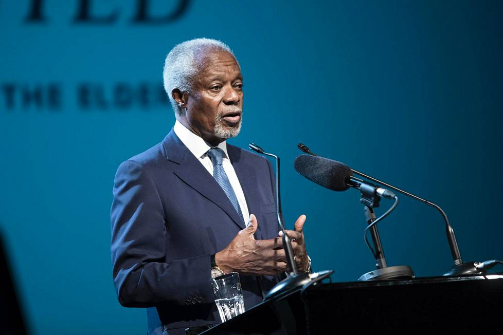 Kofi Annan Helsingissä toukokuussa 2017.