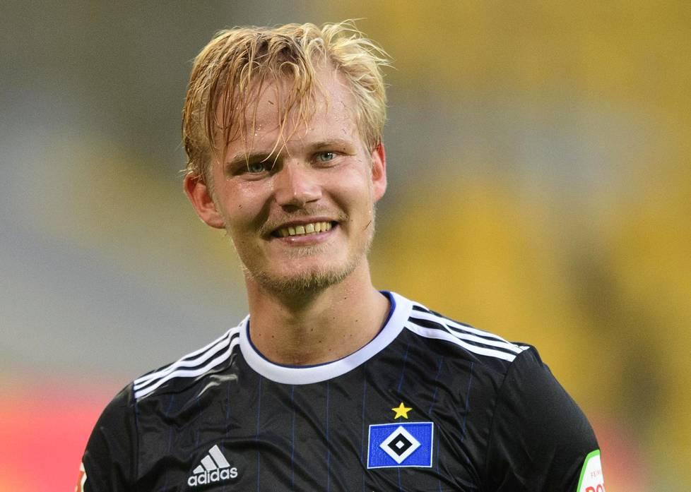 Joel Pohjanpalo teki ottelun ainoan maalin HSV:n voittaessa perjantaina vieraskentällä Dynamo Dresdenin.