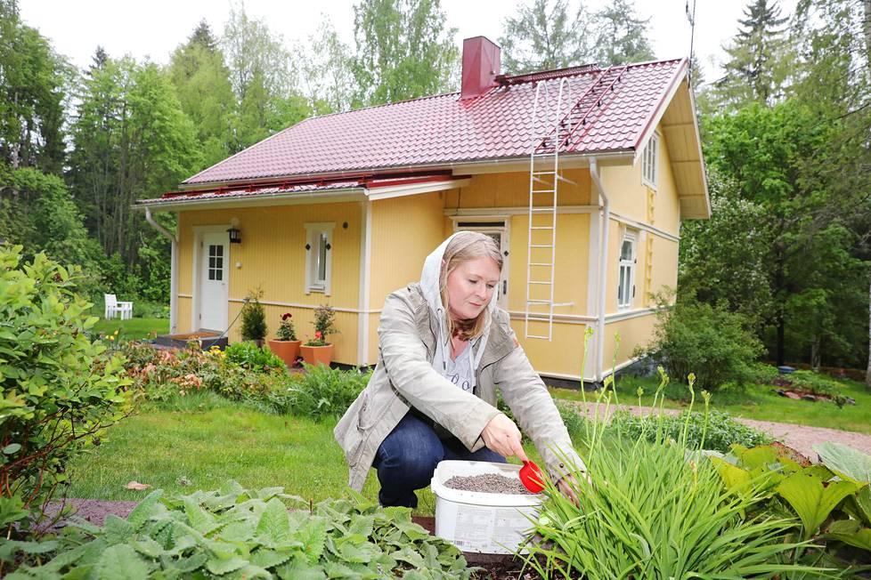 Helsinkiläinen Tarja Pääkkönen osti neljä vuotta sitten talon Lohjalta. Hän on innostunut maaseutukodissaan puutarhanhoidosta.