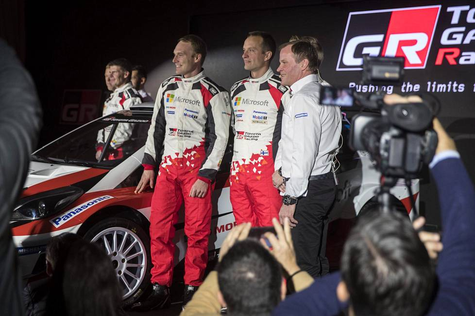 The Toyota Gazoo Racing team, led by Tommi Mäkinen, launched a new car and drivers Jari-Matti Latvala and Juho Hänninen at Finlandia Hall on 13 December 2016.