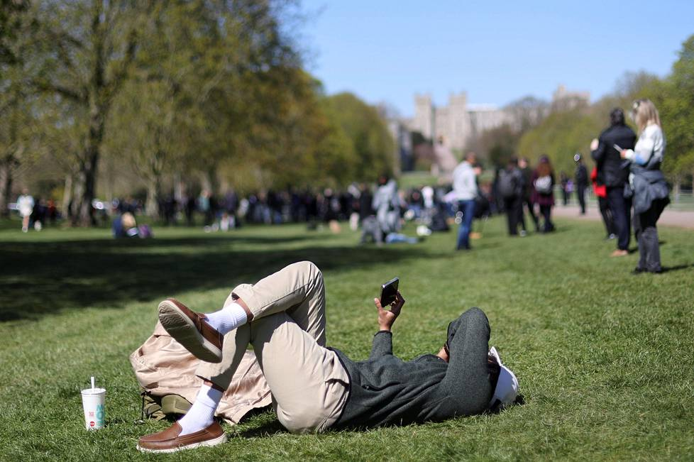 In Windsor, funerals held in sunny weather were also monitored remotely.