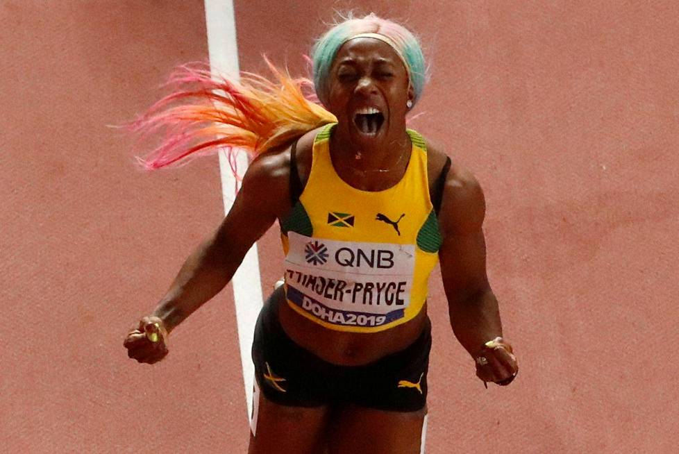 Shelly-Ann Fraser-Pryce palasi Dohassa äitiyslomalta sadan metrin voittajaksi.