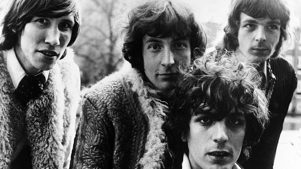Pink Floyd -yhtye eli Roger Waters (vas.) Nick Mason, Syd Barrett ja Richard Wright.