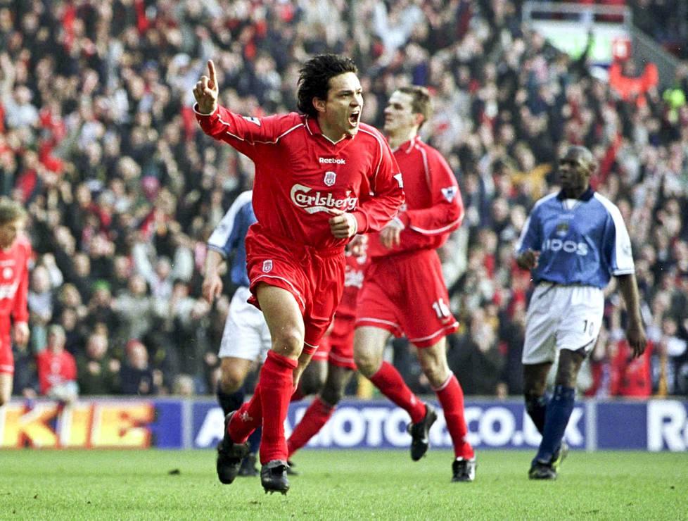 Helmikuussa 2001 Jari Litmanen sai tuulettaa Englannin cupin ottelussa Manchester Citya vastaan.