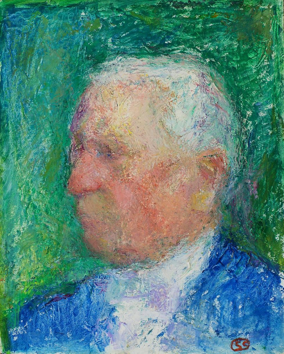 Sigrid Schauman maalasi Amos  Andersonin muotokuvan kesällä 1958.