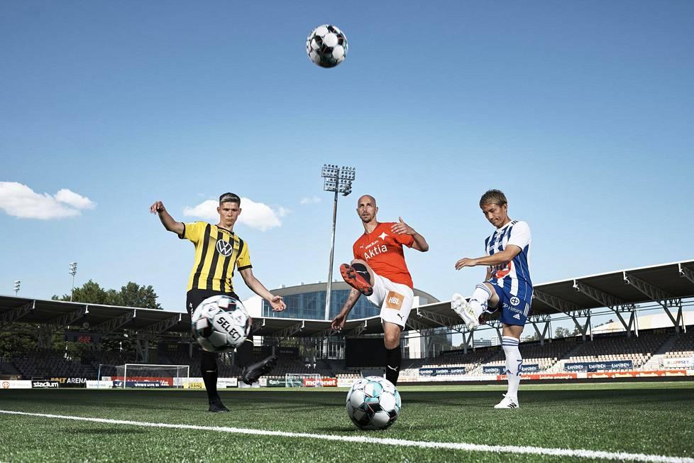 FC Hongan Jonas Levänen, HIFK:n Sakari Mattila ja HJK:n Atomu Tanaka ovat joukkueidensa avainpelaajia Veikkausliiga-kaudella 2020.