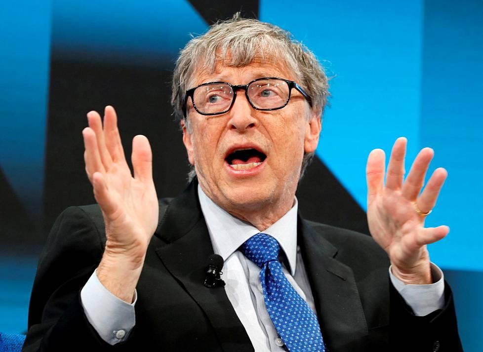 Bill Gates Davosin talousfoorumissa tammikuussa 2019.