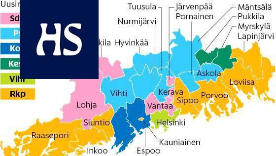 Kartta Nayttaa Missa Paakaupunkiseudun Kansanedustajat Asuvat